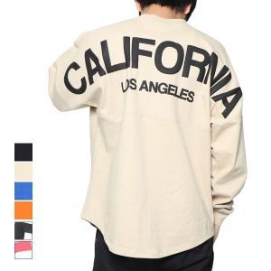 Tシャツ カットソー クルーネック 丸首 長袖 ロンT ビッグシルエット ロンT バックプリント ロゴ プルオーバートップス メンズ|styleblock