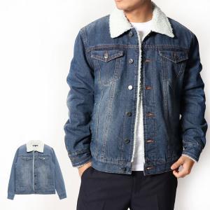 ジャケット ブルゾン Gジャン ジージャン デニム 裏ボア 防寒 アウター メンズ|styleblock