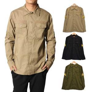 カジュアルシャツ シャツ ワークシャツ ミリタリーシャツ ビッグシルエット 長袖シャツ ファティーグシャツ メンズ トップス|styleblock