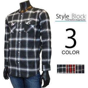 カジュアルシャツ チェックシャツ シャツ ビッグシルエット 白シャツ 柄 長袖シャツ チェック柄 メンズ トップス|styleblock