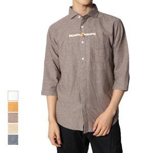 カジュアルシャツ 半袖シャツ シャツ ビッグシルエット 白シャツ 五分 七分 七分袖 リネンシャツ メンズ トップス|styleblock