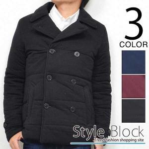 Pコート ピーコート 中綿ジャケット ショート アウター アウター ジャケット メンズ|styleblock
