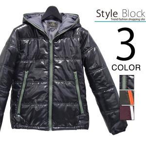 ジャケット 中綿ジャケット フード付きジャケット シレ加工 ポリエステル メンズ|styleblock