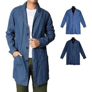ジャケット コート チェスターコート デニム スプリングコート ライトアウター 長袖 ハーフコート アウター メンズ|styleblock