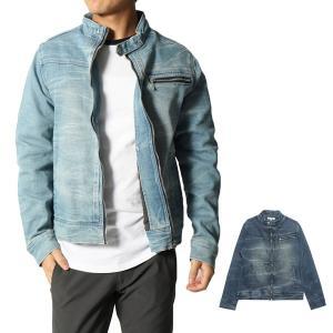 ジャケット ライダースジャケット シングルライダース ストレッチ デニムジャケット アウター メンズ|styleblock