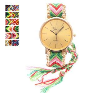 ミサンガウォッチ 腕時計 ミサンガ ブレスレット レディース カジュアル|styleblock