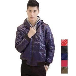 ダウンコート ダウンジャケット メンズ 中綿 アウター レイヤード フェイクレイヤード フード|styleblock