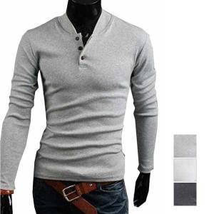 カットソー Tシャツ ビッグシルエット ヘンリーネック メンズ トップス|styleblock