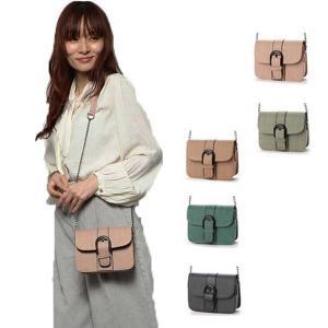 ショルダーバッグ ミニバッグ チェーンバッグ 合皮 PUレザー ベルトモチーフ 鞄 バッグ レディース|styleblock