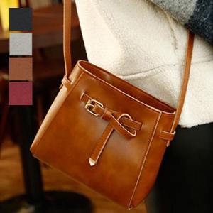ミニバッグ ショルダーバッグ PUレザー 合皮 ベルト 革結び 小物 鞄 バッグ レディース|styleblock