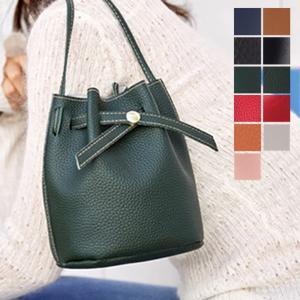 ショルダーバッグ ミニバッグ ミニショルダー 巾着型 フェイクレザー 合皮 PUレザー 鞄 かばん 小物 レディース|styleblock