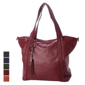 トートバッグ レーザトート レザーバッグ サブバッグ PUレザー タッセル付き 鞄 かばん バッグ レディース|styleblock