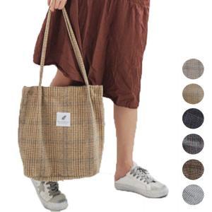 トートバッグ トート 縦型 サブバッグ A4 チェック柄 ロゴ 鞄 かばん バッグ 小物 レディース|styleblock