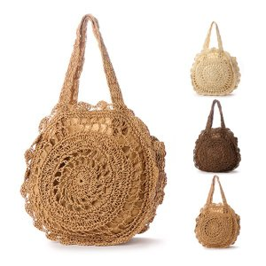 かごバッグ 編みバッグ トートバッグ サークルバッグ カジュアル 鞄 かばん バッグ 小物 レディース|styleblock
