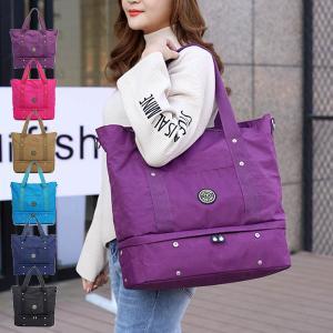 ハンドバッグ トートバッグ マザーバッグ ナイロン 軽量 撥水加工 A4 大容量 鞄 かばん バッグ...