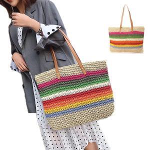 トートバッグ かごバッグ ストローバッグ A4 鞄 大容量 かばん バッグ 小物 レディース|styleblock