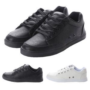 スニーカー レースアップスニーカー カジュアルシューズ モノトーン 白 黒 シューズ 靴 小物 メンズ|styleblock