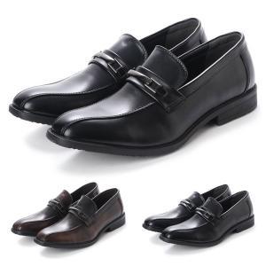 ビジネスシューズ プレーントゥ ドレスシューズ ローファー シンプル ベーシック 合皮 靴 シューズ メンズ|styleblock
