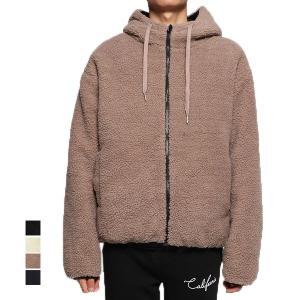 ジャケット ブルゾン パーカー ボア リバーシブル 中綿ブルゾン キルティング 無地 長袖 ジップアップパーカー フード付き オーバーサイズ アウター メンズ|styleblock