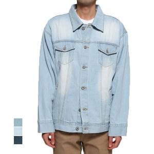 ジャケット デニムジャケット Gジャン ジージャン ビッグシルエット オーバーサイズ 綿100% 長袖 コットン アウター メンズ|styleblock