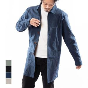 ステンカラーコート メンズ スプリングコート カジュアル ビジネス 無地 ショップコート シャツコー...