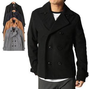 コート Pコート ショートコート ジャケット メルトン ウール アウター メンズ|styleblock