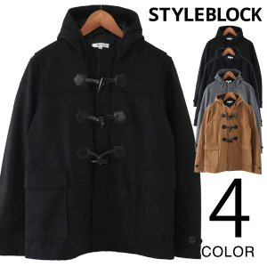 ダッフルコート ショートコート メルトン ウール コート ジャケット アウター メンズ|styleblock