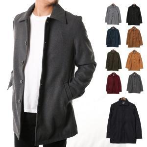 ステンカラーコート メルトンコート メルトンウール ショート丈 カラーコート ジャケット アウター メンズ|styleblock