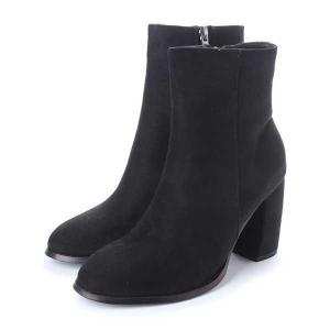 ショート ブーツ  チャンキーヒール 太ヒール ハイヒール ポインテッドトゥ フェイクスエード 靴 シューズ レディース|styleblock