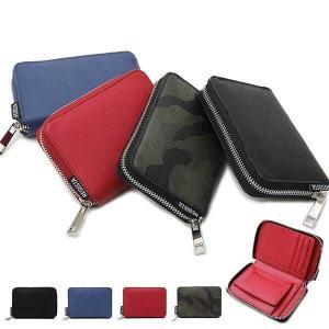 財布 ウォレット 折りたたみ財布 二つ折り フェイクレザー サフィアーノ素材 ラウンドジップ 小物 ...