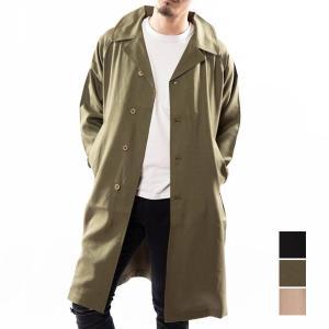 ステンカラーコート コート メンズ 冬 ビジネス 50代 ビッグシルエット スプリングコート ショッ...
