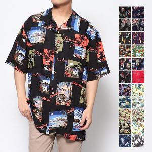 シャツ アロハシャツ メンズ カジュアル おしゃれ 半袖 柄 リゾート ビッグシルエット オーバーサ...
