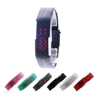 腕時計 メンズ ブレスレット バングル LED ユニセックス...