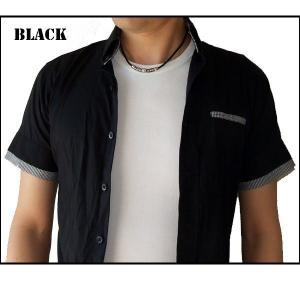 ネックレス メンズ チョーカー 人気  レザー風 シンプル メンズネックレス チョーカーネックレス ブラック ブラウン styleby 02