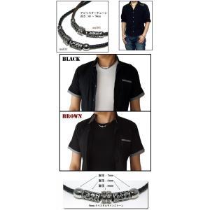 ネックレス メンズ チョーカー 人気  レザー風 シンプル メンズネックレス チョーカーネックレス ブラック ブラウン styleby 04
