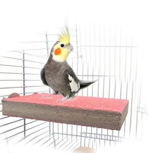 Kingsie オウム 鳥用パーチ 止まり木 爪とぎパーチ 爪を磨く 自然木 止まり台 インコ ハムスター ケージアクセサリー ランダム色 (1A)|stylecolorstore