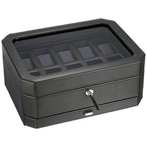 ウルフ 時計収納ケース(10本収納) ジュエリーボックス ブラック/パープルWOLF 458603-WINDSOR|stylecolorstore