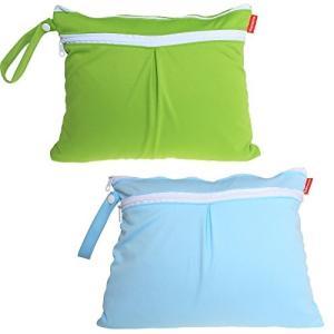 Damero ウェットバック(防水バッグ) 2点セット お出かけ 温泉 スポーツ 便利(緑+青) stylecolorstore