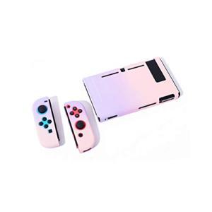 SHEAWA Nintendo Switch ケース 保護ケース 保護カバー かわいい 任天堂ニンテンドースイッチ対応 (ライトパープル+ライトピンク|stylecolorstore