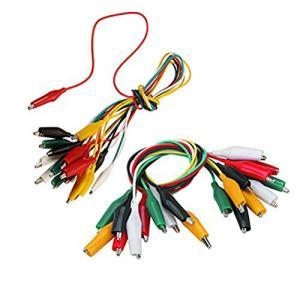 Wolfride 20組セット ワニ口クリップコード テストリード ジャンパーワイヤー 電線クランプ ワイヤーコード 5色|stylecolorstore