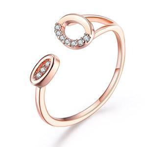 DAZZARRY 指輪 レディース フリーサイズ リング CZ リング18金RGP キュートファッション リング 925 stylecolorstore