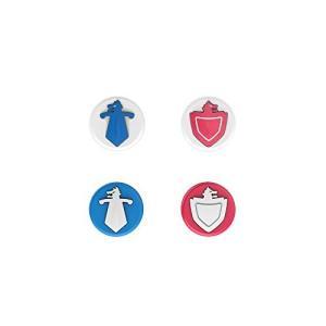 Switch & Switch LiteのJoy-Conに適用のかわいいロッカーキャップ、,親指グリップキャップ, ジョイスティックカバー, 青とピン|stylecolorstore