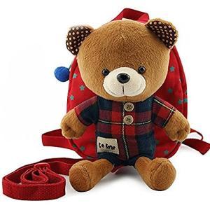 Cuby 迷子防止ひも リード付き ベビー リュック クマ ぬいぐるみ ( 1-6歳子供リュックサック ベビーギフトや贈り物) (レッド) stylecolorstore