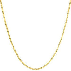 Lifetime Jewelry ゴールドネックレス レディース&メンズ [ 1.4mmボックスチェーンネックレス ] 最大20倍 24Kリアルゴール stylecolorstore