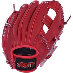 ゼット(ZETT) 少年野球 軟式 グローブ (グラブ) オールラウンド 初心者用 衝撃吸収パッド付き 9.5インチ 右投用 レッド BDG2212|stylecolorstore