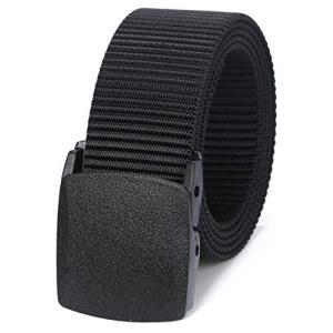 (ムジナ) mujina ナイロンベルト YKKバックル 軽量 作業服 カジュアル ベルト 5色 フリーサイズ (ブラック) stylecolorstore