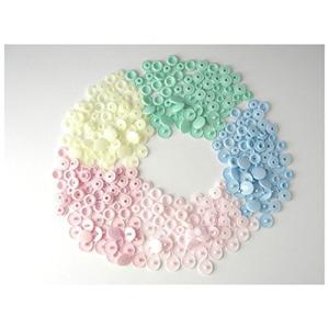 プラスチック スナップ ボタン プラスナップ 5色 100組 12mm T5|stylecolorstore