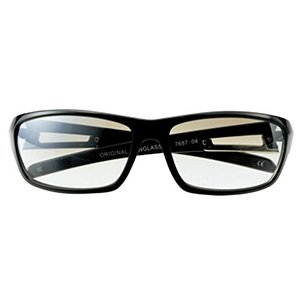 UVカット メンズ ブランド ファッション サングラス UV400 ブラック/クリアハーフミラー 7687-04 stylecolorstore