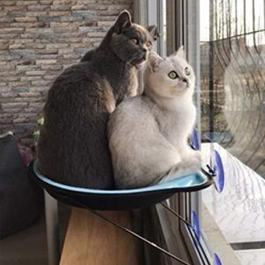 (Enerhu)猫窓用ベッド 猫窓ベッド 猫ハンモック 猫用ハンモック ペット用 ウィンドウベッド 窓 ネコ ねこ ベッド 強力 吸盤 日向ぼっこ 昼|stylecolorstore