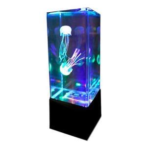 MIRACLE 3色 LED 卓上 アクアリウム (ブラック) シリコン クラゲ 2匹 付き MC-JELLY-BK|stylecolorstore